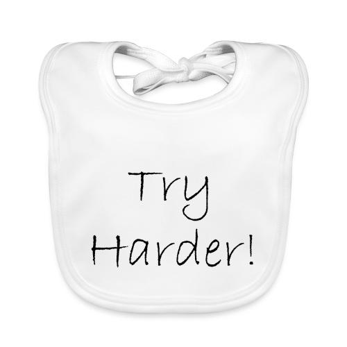 Try_Harder_B - Ekologisk babyhaklapp