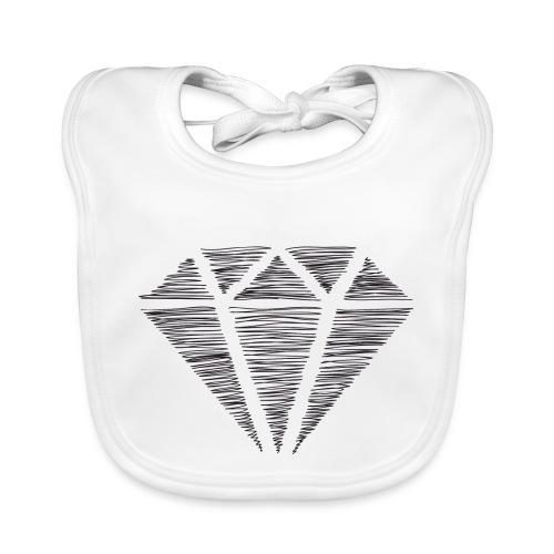 Diamante - Babero de algodón orgánico para bebés