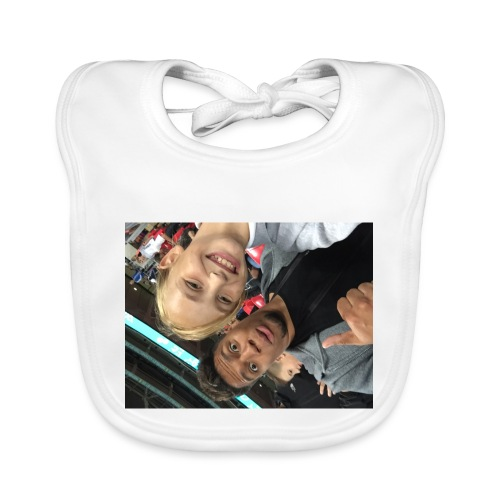 a pic with youtuber - Organic Baby Bibs