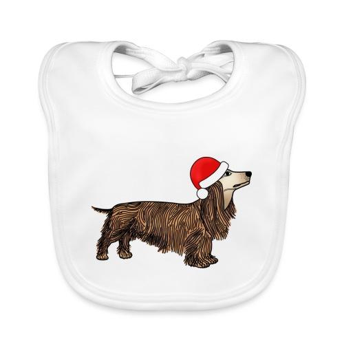 Christmas dachshund - Baby Organic Bib