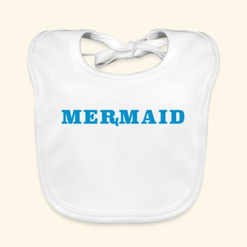 Mermaid logo - Ekologisk babyhaklapp