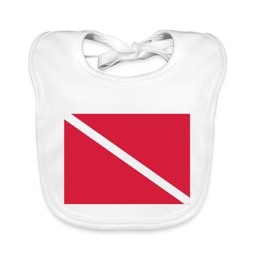 Diver Flag - Baby Organic Bib