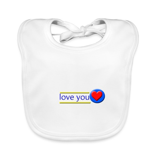 love you - Baby Organic Bib