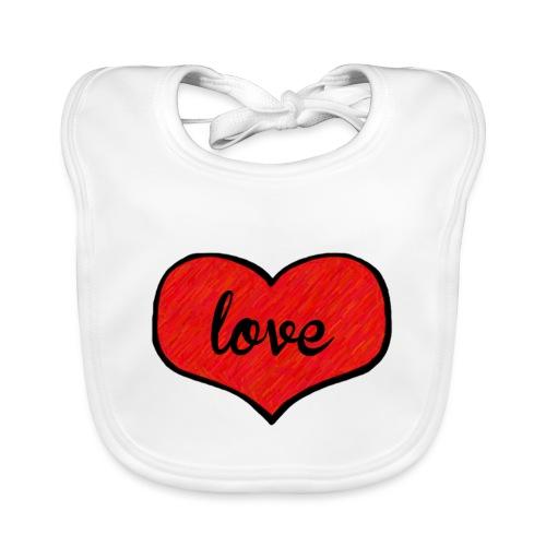 love heart - Organic Baby Bibs