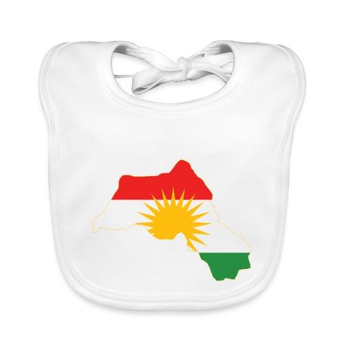 Kurdistan Flag Map - Baby Bio-Lätzchen