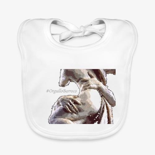#OrgulloBarroco Rapto difuminado - Babero de algodón orgánico para bebés