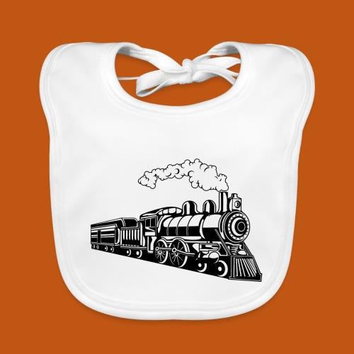 Lokomotive / Locomotive 02_schwarz - Baby Bio-Lätzchen