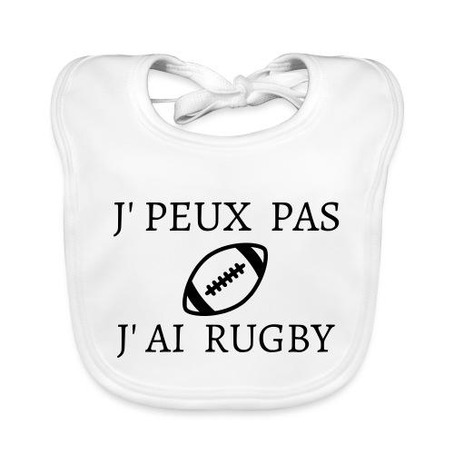 J'peux pas J'ai rugby - Bavoir bio Bébé