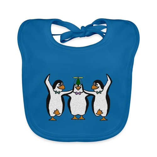 Penguin Trio - Organic Baby Bibs