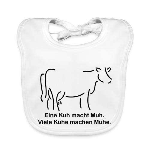 eine Kuh mach Muh klein - Baby Bio-Lätzchen