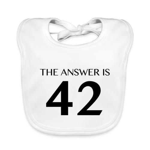 The Answer is 42 Black - Baby Organic Bib