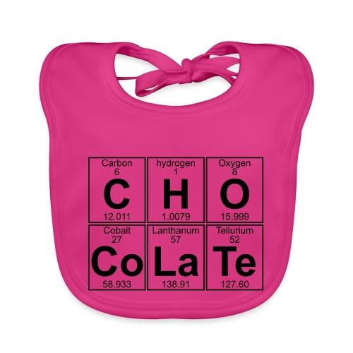 C-H-O-Co-La-Te (chocolate) - Full - Baby Organic Bib