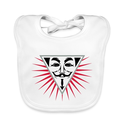 Anonymous NWO logo 3c - Bavoir bio Bébé
