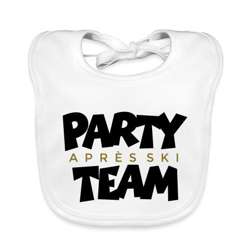 Après-Ski Party Team (zweifarbig) - Baby Bio-Lätzchen