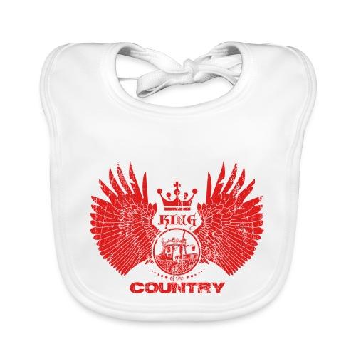 IH KING of the COUNTRY (Red design) - Bio-slabbetje voor baby's