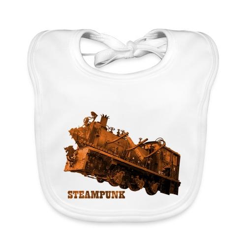 Steampunk Lokomotive Neuseeland - Baby Bio-Lätzchen