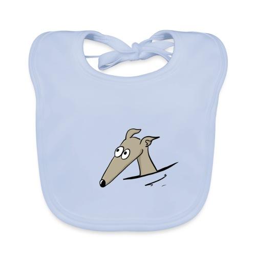 Windhund in der Tasche - Baby Bio-Lätzchen