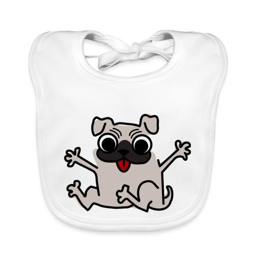 crazy pug - Baby Bio-Lätzchen