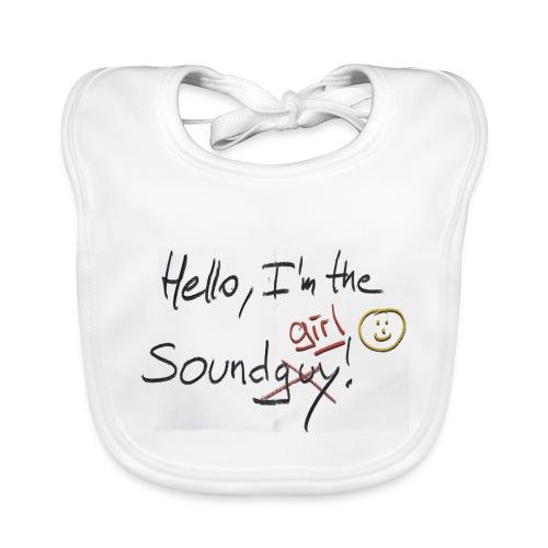 Hello I'm the sound girl - Organic Baby Bibs