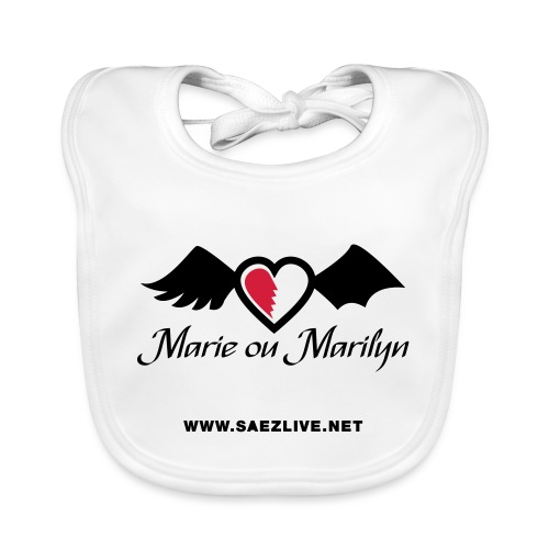 Marie ou Marilyn (version dark) - Bavoir bio Bébé
