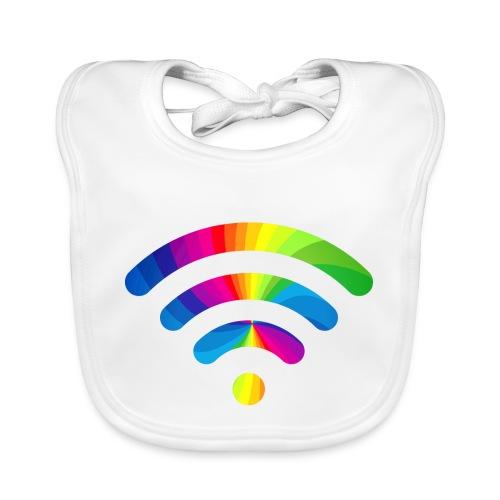 wifi signal rainbow - Bio-slabbetje voor baby's