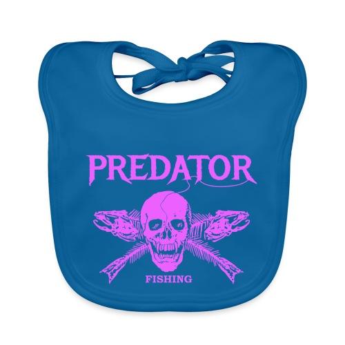 Predator fishing pink - Baby Bio-Lätzchen