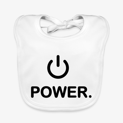 power - Bavoir bio Bébé