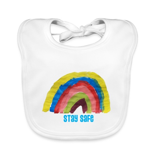 Stay Safe Rainbow Tshirt - Organic Baby Bibs