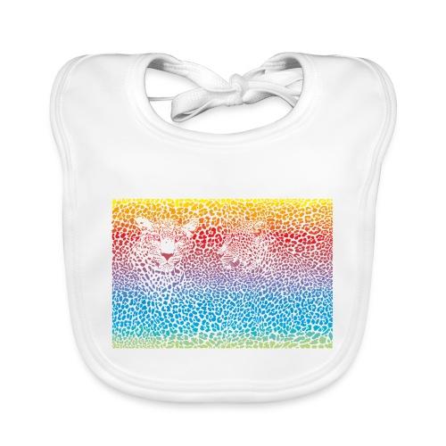 Leopard rainbow pattern background - Baby Bio-Lätzchen