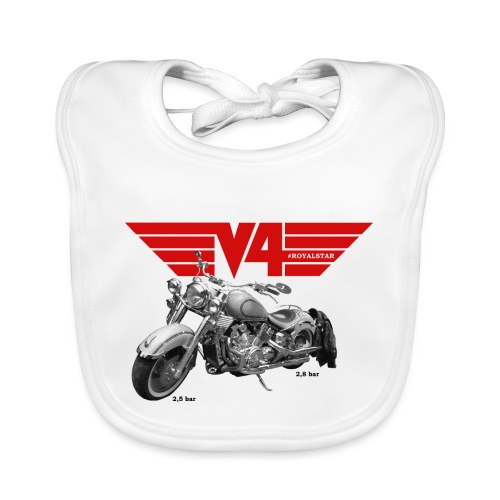 V4 Motorcycles red Wings - Baby Bio-Lätzchen
