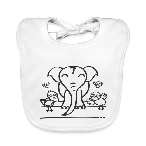 78 elephant - Baby Bio-Lätzchen