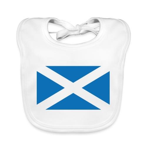 Flag of Scotland - The Saltire - Organic Baby Bibs