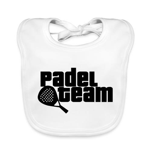 Padel team - Babero de algodón orgánico para bebés