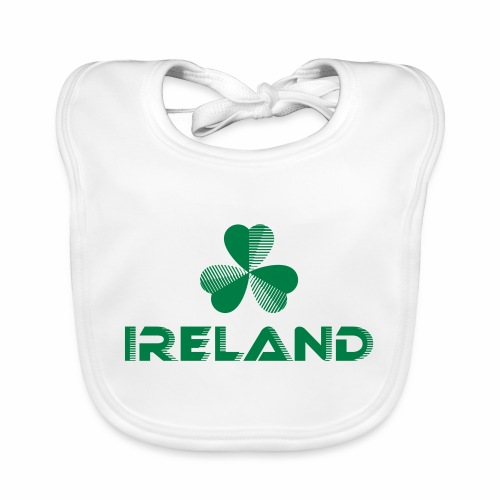 Supporting Ireland Shamrock - Baby Organic Bib