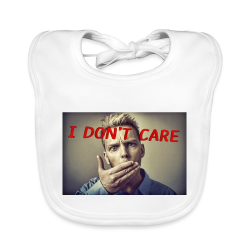 I don't care shirt - Baby Organic Bib