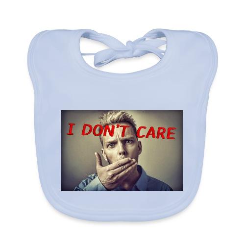 I don't care shirt - Baby Organic Bib