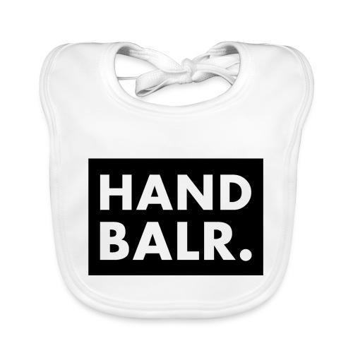Handbalr Wit - Bio-slabbetje voor baby's