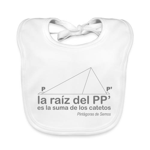 Teorema de Pintágoras - Babero ecológico bebé