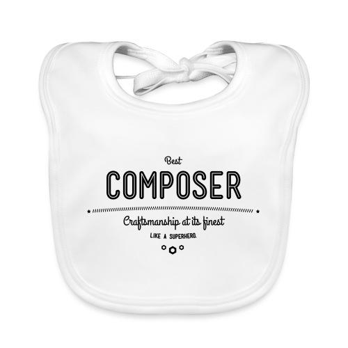 Bester Komponist - Handwerkskunst vom Feinsten, - Baby Bio-Lätzchen