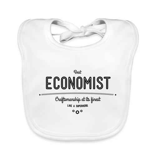 Bester Ökonom - wie ein Superheld - Baby Bio-Lätzchen