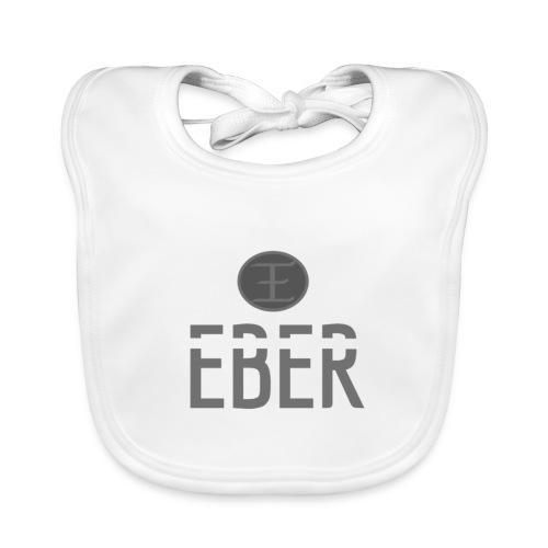 EBER: T-Shirt - White - Ekologisk babyhaklapp