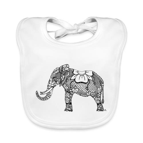 Éléphant oriental - Bavoir bio Bébé