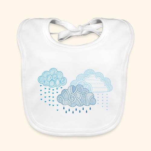 nubes-azules - Babero ecológico bebé
