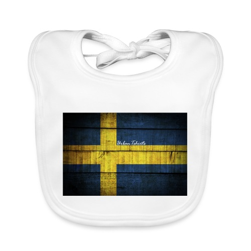 swedish-flag - Ekologisk babyhaklapp