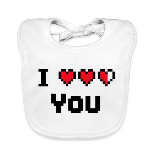 I pixelhearts you - Bio-slabbetje voor baby's
