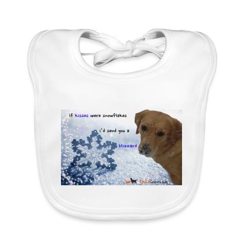 Golden Retriever tra i fiocchi di neve - Bavaglino