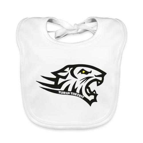 Tuiran Tiikerit tuoteperhe, pieni logo - Vauvan luomuruokalappu