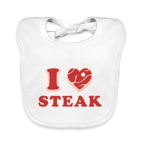 I love steak - Steak in Herzform Grillshirt - Barc - Baby Bio-Lätzchen