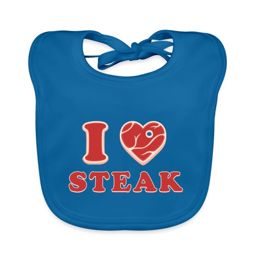 I love steak - Steak in Herzform Grillshirt - Barc - Baby Bio-Lätzchen
