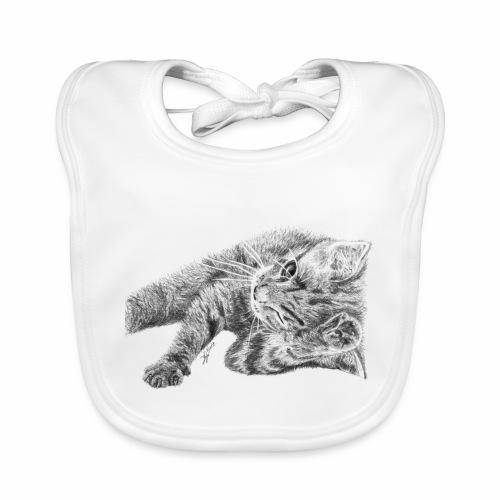 Petit chaton au crayon gris - Bavoir bio Bébé